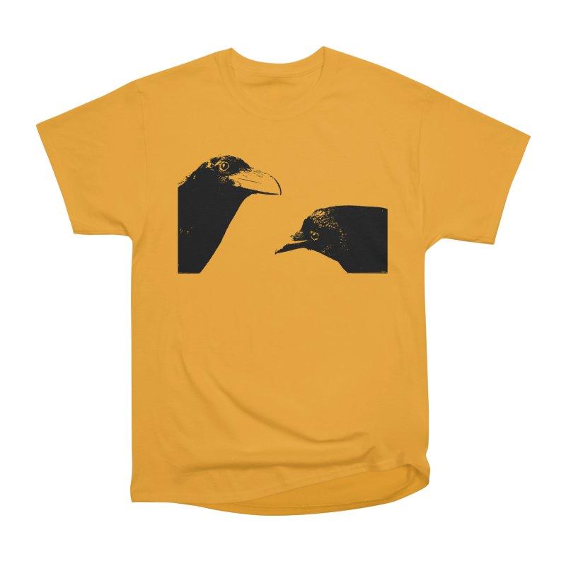 A Crow Conversation Women's Heavyweight Unisex T-Shirt by Green Grackle Studio
