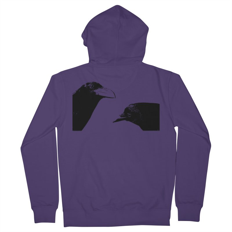 A Crow Conversation Women's French Terry Zip-Up Hoody by Green Grackle Studio