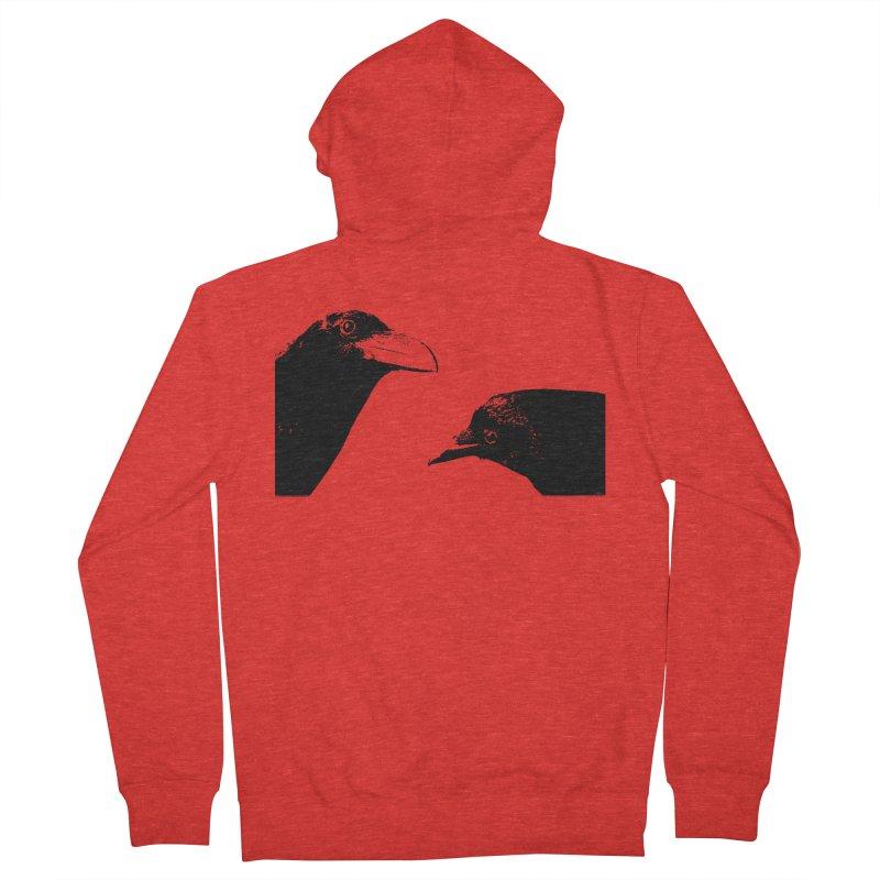 A Crow Conversation Men's Zip-Up Hoody by Green Grackle Studio