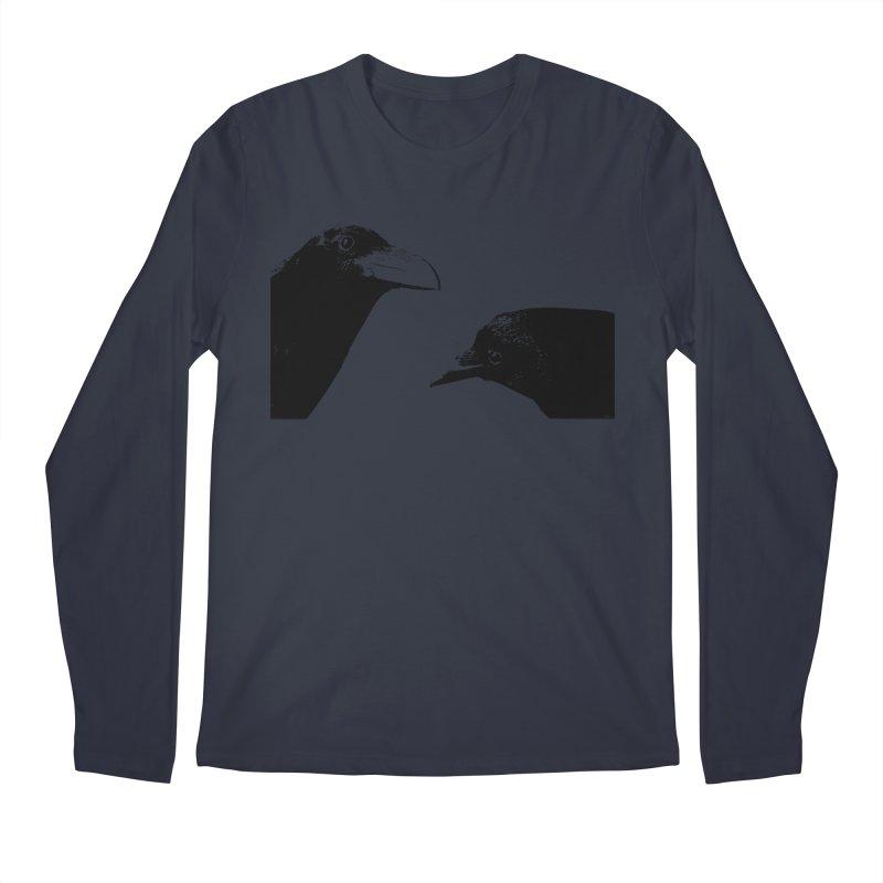 A Crow Conversation Men's Longsleeve T-Shirt by Green Grackle Studio
