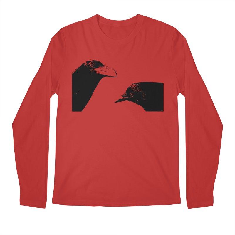 A Crow Conversation Men's Regular Longsleeve T-Shirt by Green Grackle Studio