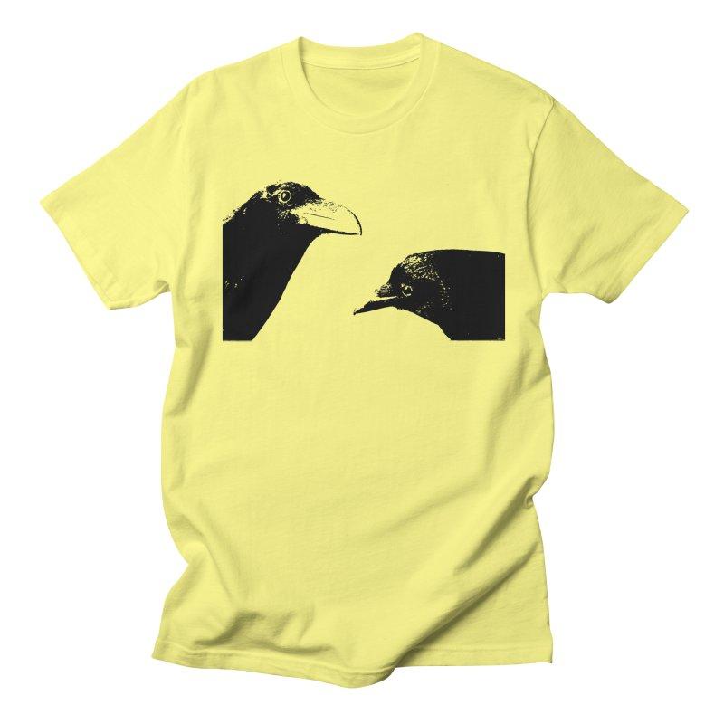 A Crow Conversation Men's Regular T-Shirt by Green Grackle Studio