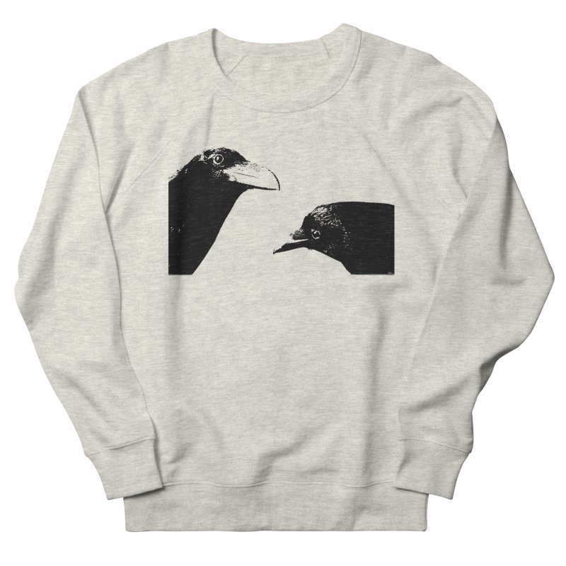 A Crow Conversation Women's French Terry Sweatshirt by Green Grackle Studio