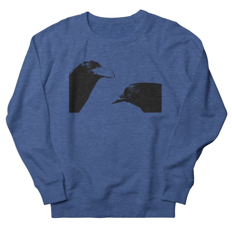 A Crow Conversation Men's French Terry Sweatshirt by Green Grackle Studio