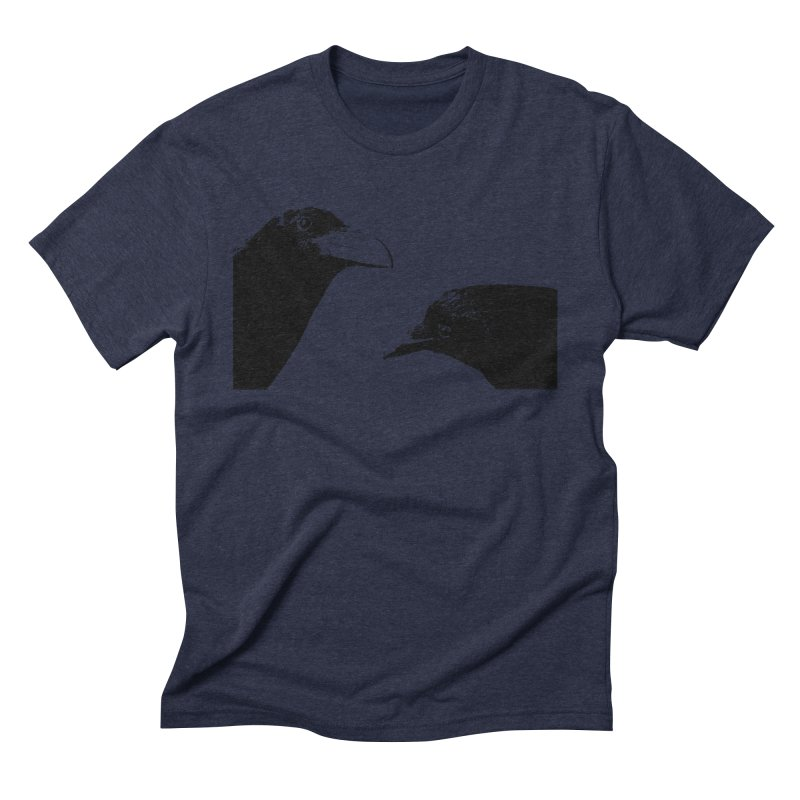 A Crow Conversation Men's T-Shirt by Green Grackle Studio