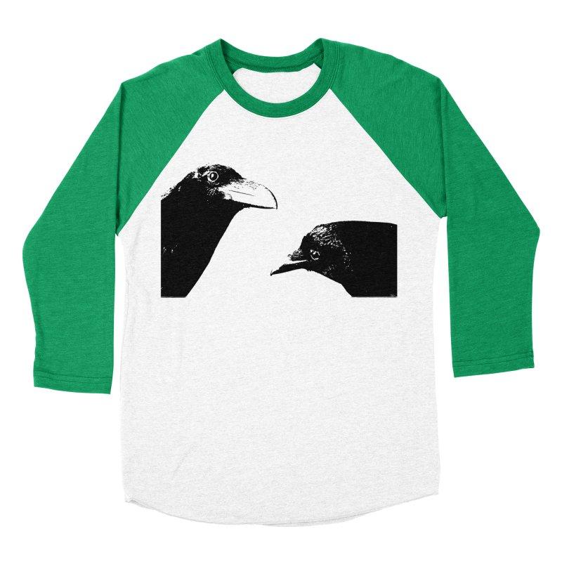 A Crow Conversation Women's Baseball Triblend Longsleeve T-Shirt by Green Grackle Studio