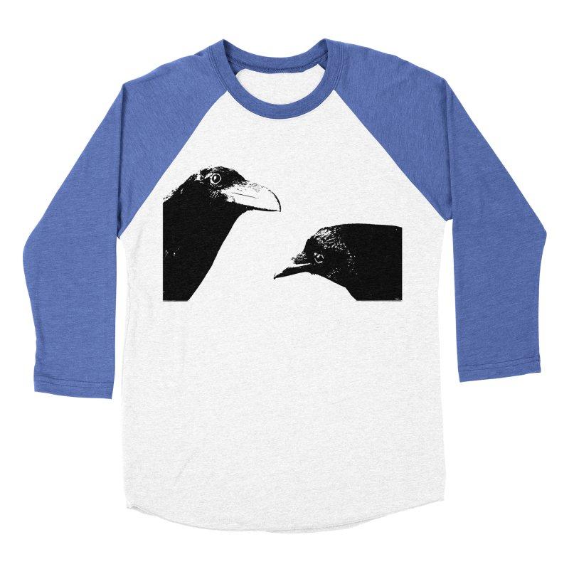 A Crow Conversation Men's Baseball Triblend Longsleeve T-Shirt by Green Grackle Studio