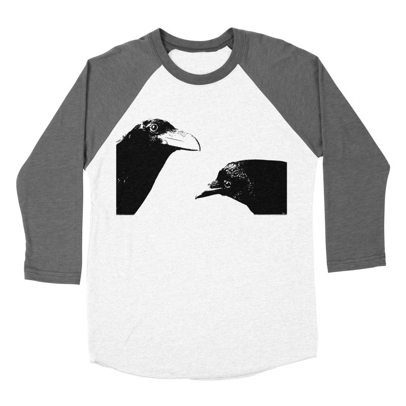 A Crow Conversation Men's Baseball Triblend Longsleeve T-Shirt by Green Grackle Studio