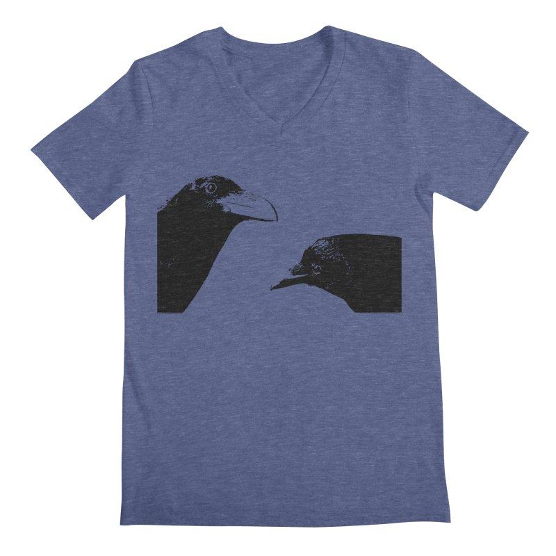 A Crow Conversation Men's Regular V-Neck by Green Grackle Studio