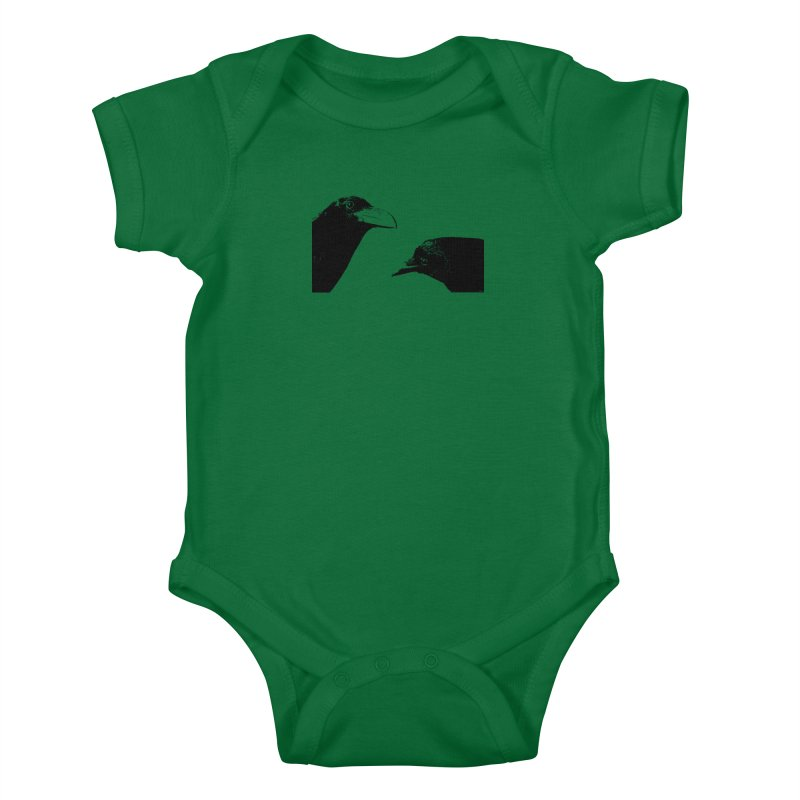 A Crow Conversation Kids Baby Bodysuit by Green Grackle Studio