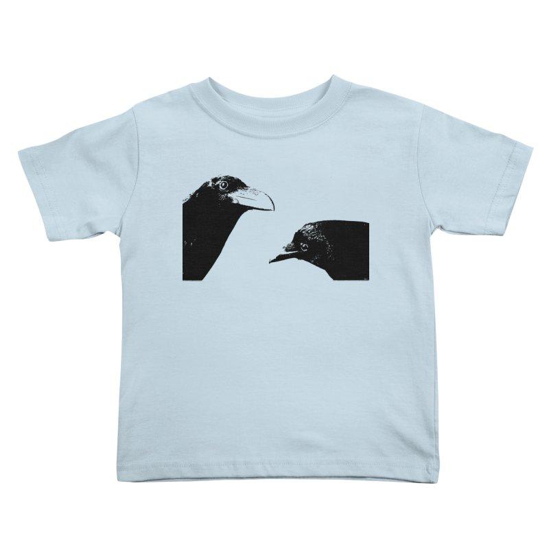 A Crow Conversation Kids Toddler T-Shirt by Green Grackle Studio