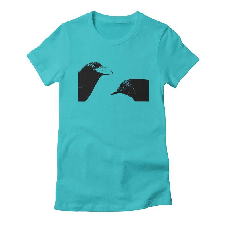 A Crow Conversation Women's T-Shirt by Green Grackle Studio