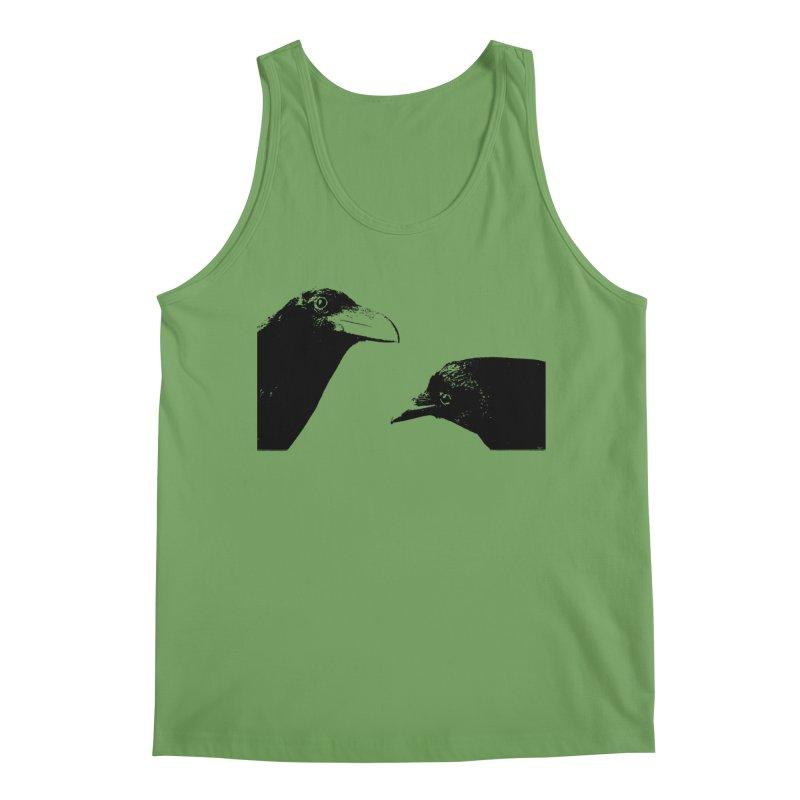 A Crow Conversation Men's Tank by Green Grackle Studio
