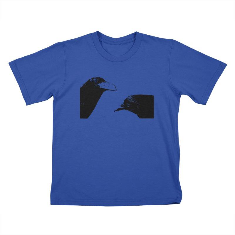 A Crow Conversation Kids T-Shirt by Green Grackle Studio