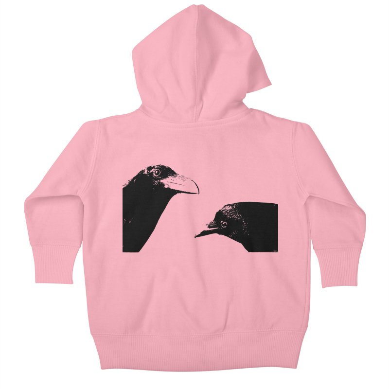 A Crow Conversation Kids Baby Zip-Up Hoody by Green Grackle Studio
