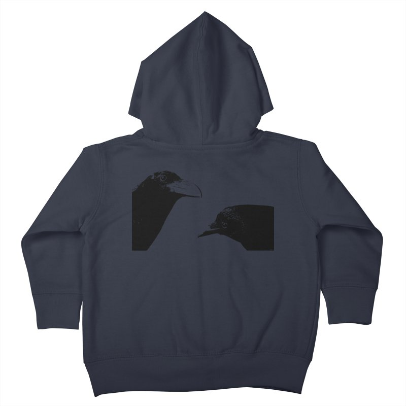 A Crow Conversation Kids Toddler Zip-Up Hoody by Green Grackle Studio