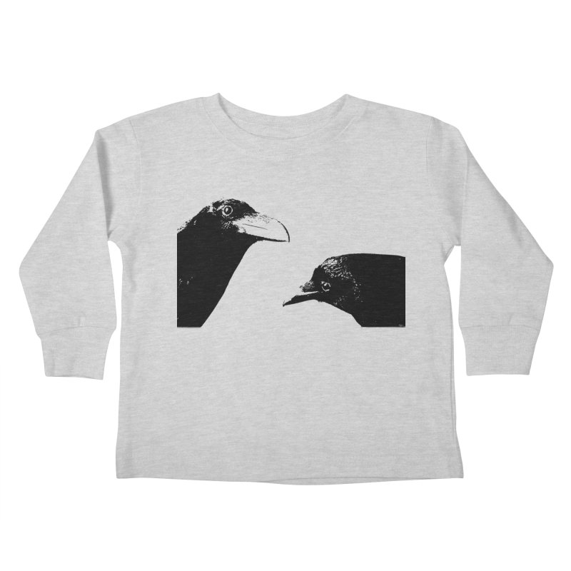 A Crow Conversation Kids Toddler Longsleeve T-Shirt by Green Grackle Studio