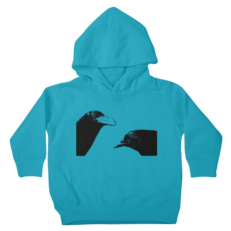 A Crow Conversation Kids Toddler Pullover Hoody by Green Grackle Studio