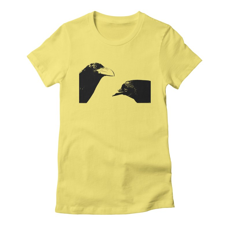 A Crow Conversation Women's Fitted T-Shirt by Green Grackle Studio