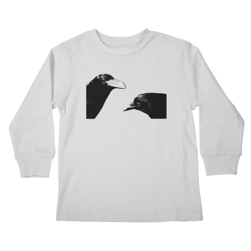 A Crow Conversation Kids Longsleeve T-Shirt by Green Grackle Studio