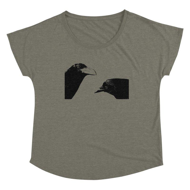 A Crow Conversation Women's Scoop Neck by Green Grackle Studio