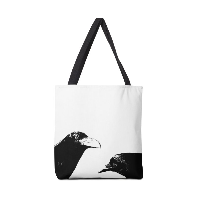 A Crow Conversation Accessories Bag by Green Grackle Studio