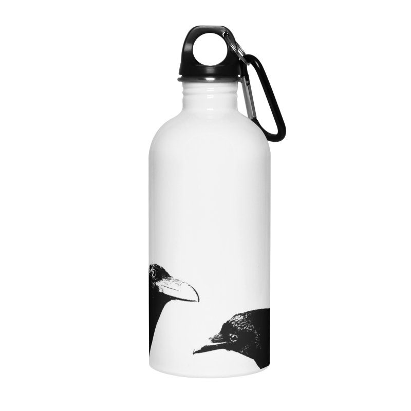 A Crow Conversation Accessories Water Bottle by Green Grackle Studio
