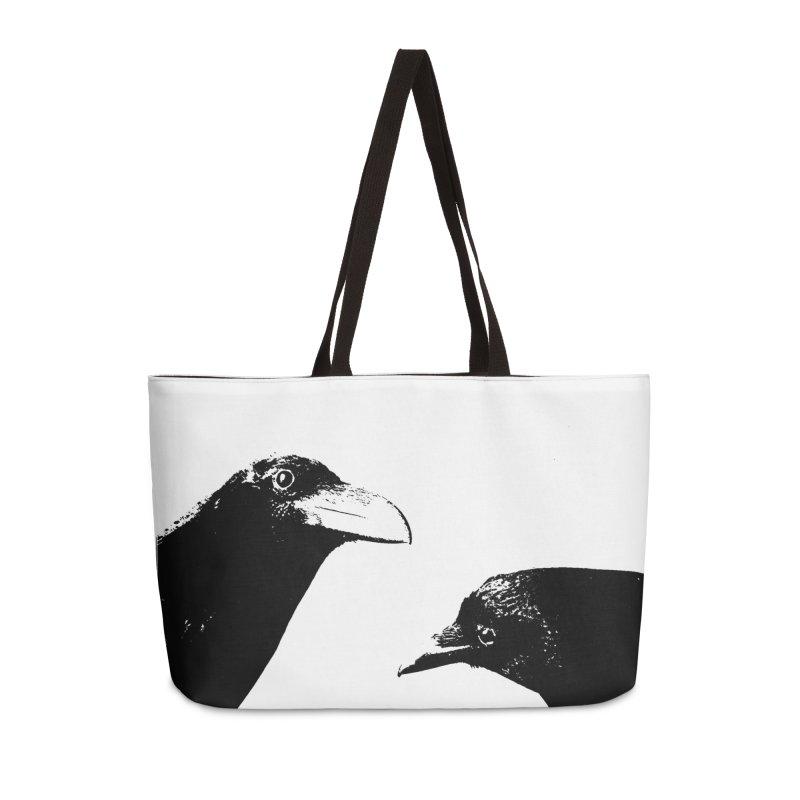 A Crow Conversation Accessories Weekender Bag Bag by Green Grackle Studio