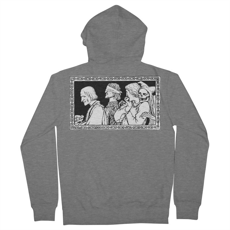 A Masque of Dead Florentine Men's Zip-Up Hoody by Green Grackle Studio