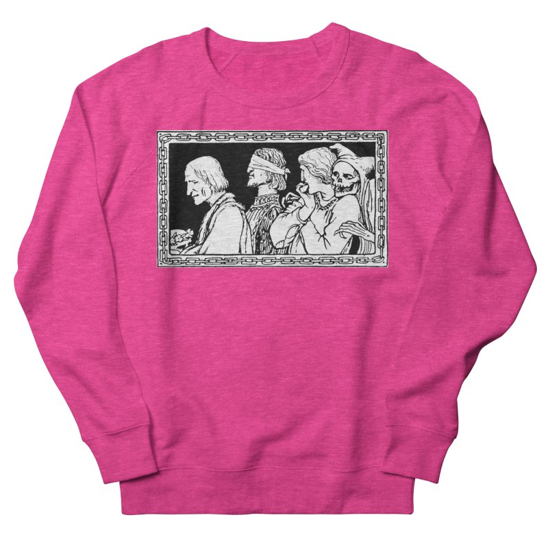 A Masque of Dead Florentine Women's French Terry Sweatshirt by Green Grackle Studio