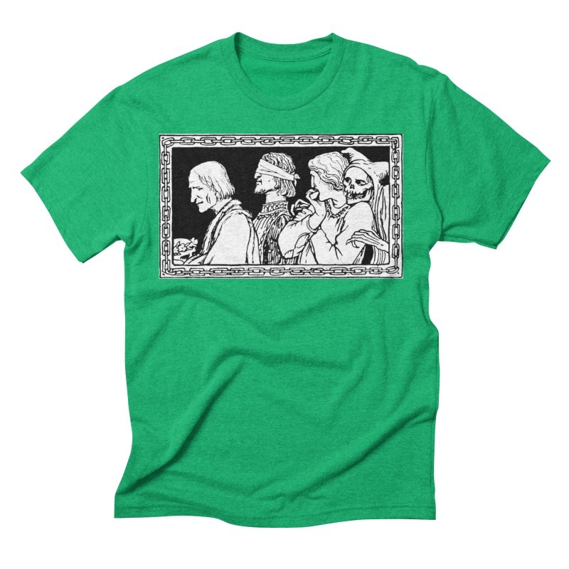 A Masque of Dead Florentine Men's Triblend T-Shirt by Green Grackle Studio