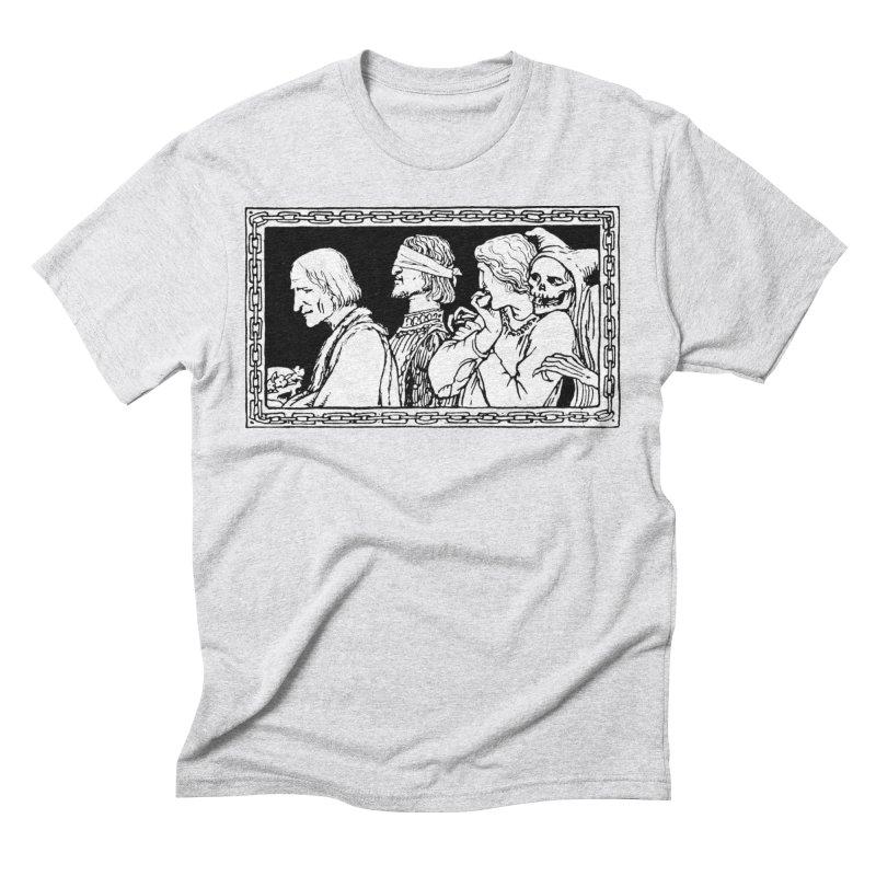 A Masque of Dead Florentine Men's Triblend T-Shirt by Green Grackle Studio