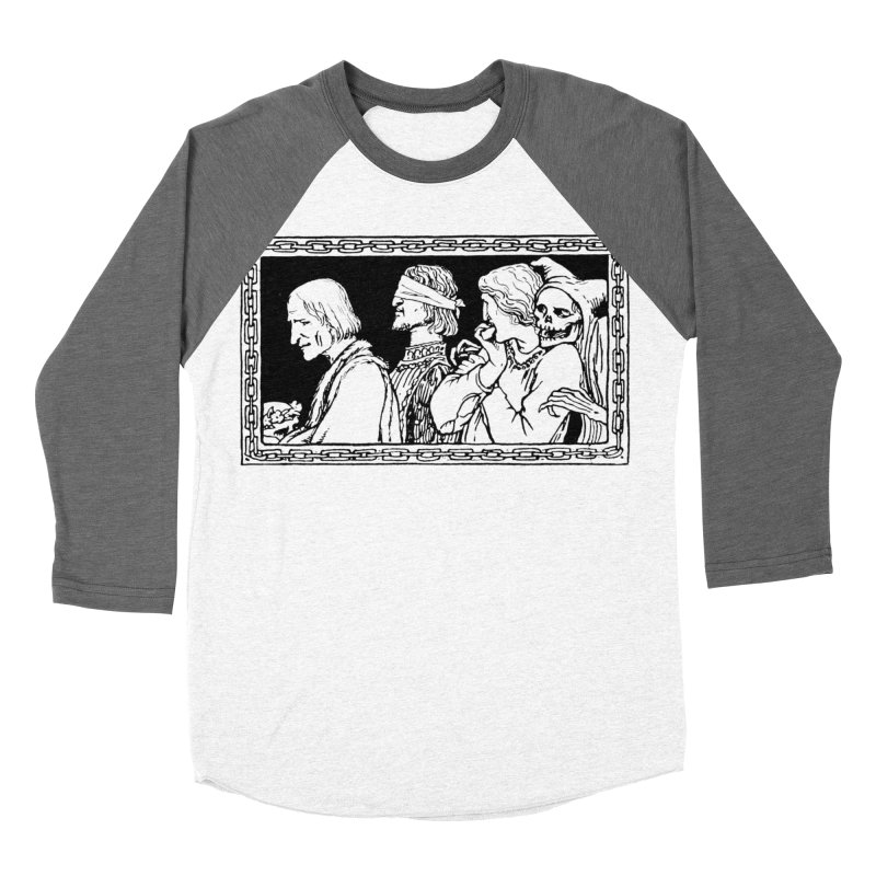 A Masque of Dead Florentine Women's Baseball Triblend Longsleeve T-Shirt by Green Grackle Studio