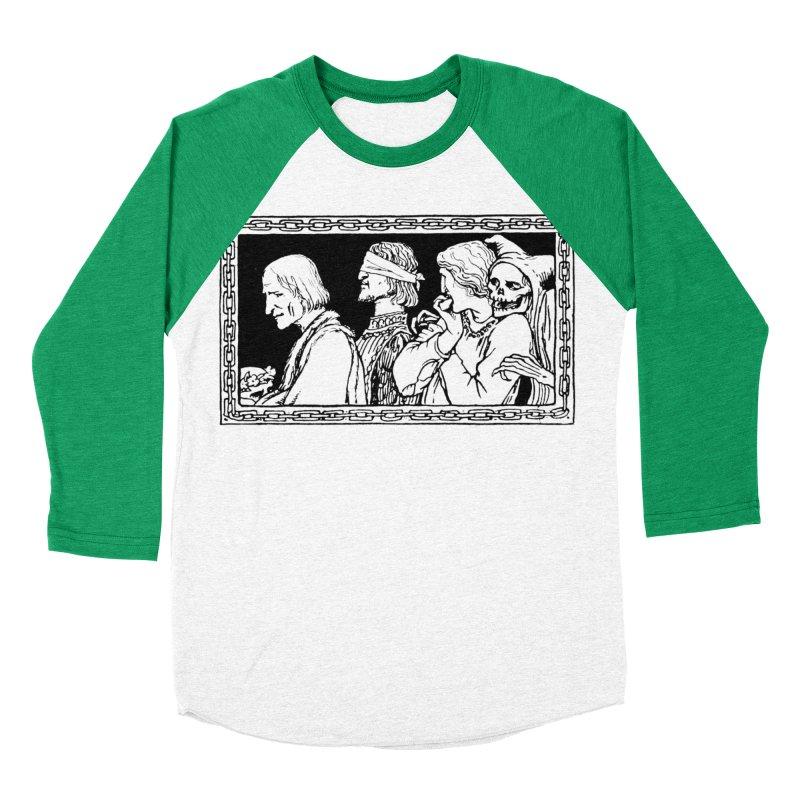 A Masque of Dead Florentine Men's Baseball Triblend Longsleeve T-Shirt by Green Grackle Studio