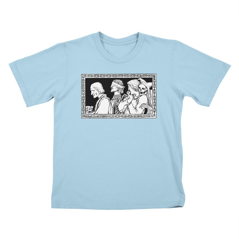 A Masque of Dead Florentine Kids T-Shirt by Green Grackle Studio