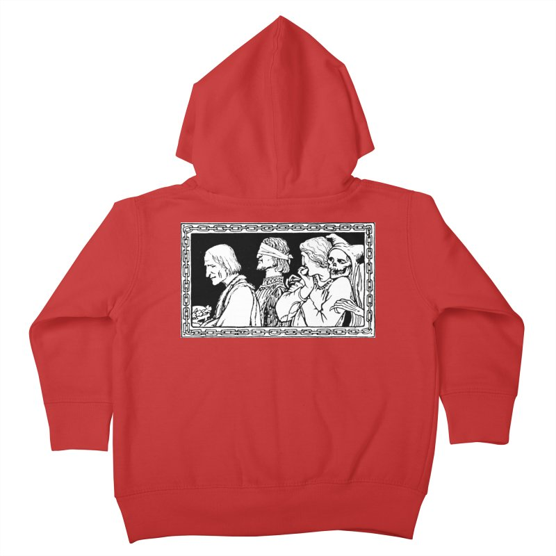 A Masque of Dead Florentine Kids Toddler Zip-Up Hoody by Green Grackle Studio