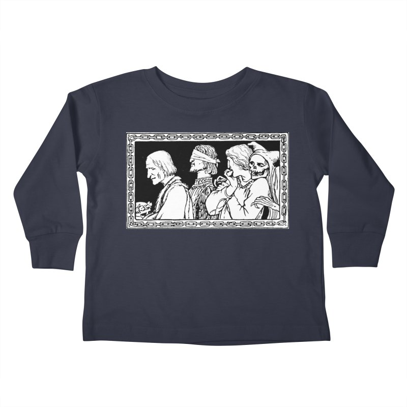 A Masque of Dead Florentine Kids Toddler Longsleeve T-Shirt by Green Grackle Studio