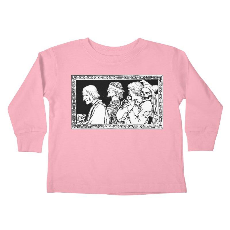 A Masque of Dead Florentine Kids Toddler Longsleeve T-Shirt by Green Grackle Studio
