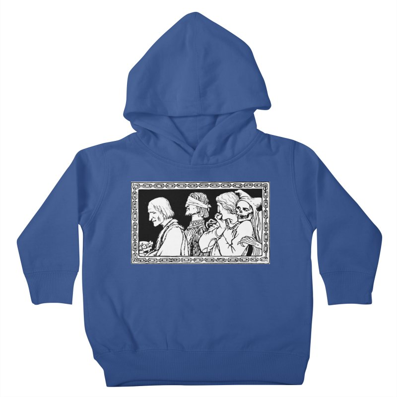 A Masque of Dead Florentine Kids Toddler Pullover Hoody by Green Grackle Studio