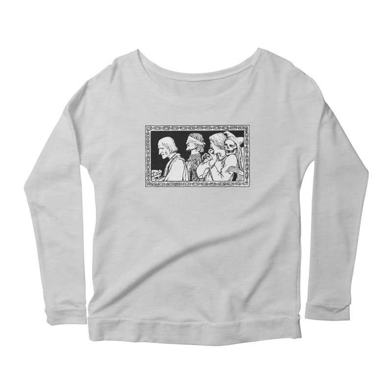 A Masque of Dead Florentine Women's Scoop Neck Longsleeve T-Shirt by Green Grackle Studio