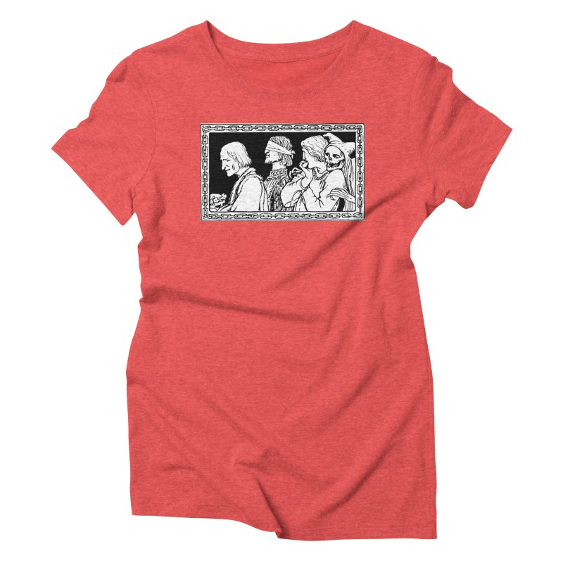 A Masque of Dead Florentine Women's Triblend T-Shirt by Green Grackle Studio
