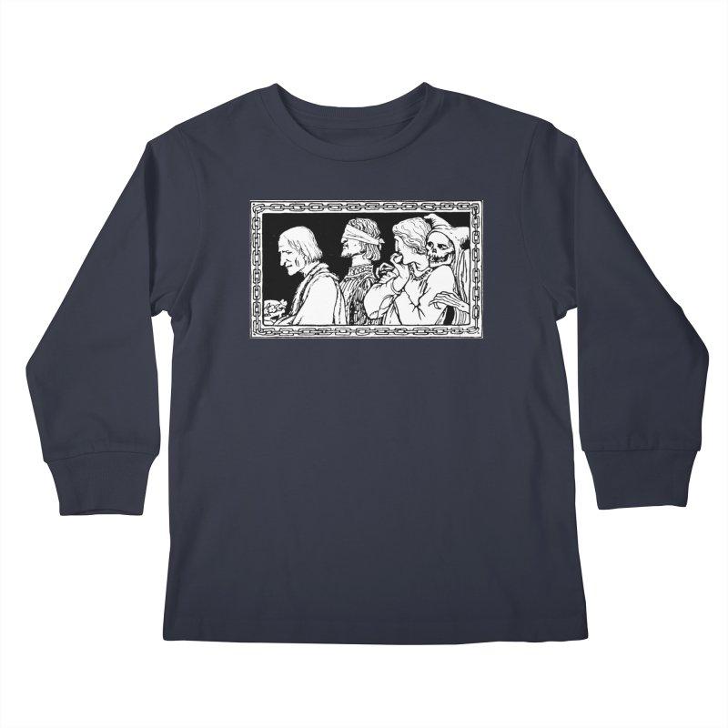 A Masque of Dead Florentine Kids Longsleeve T-Shirt by Green Grackle Studio