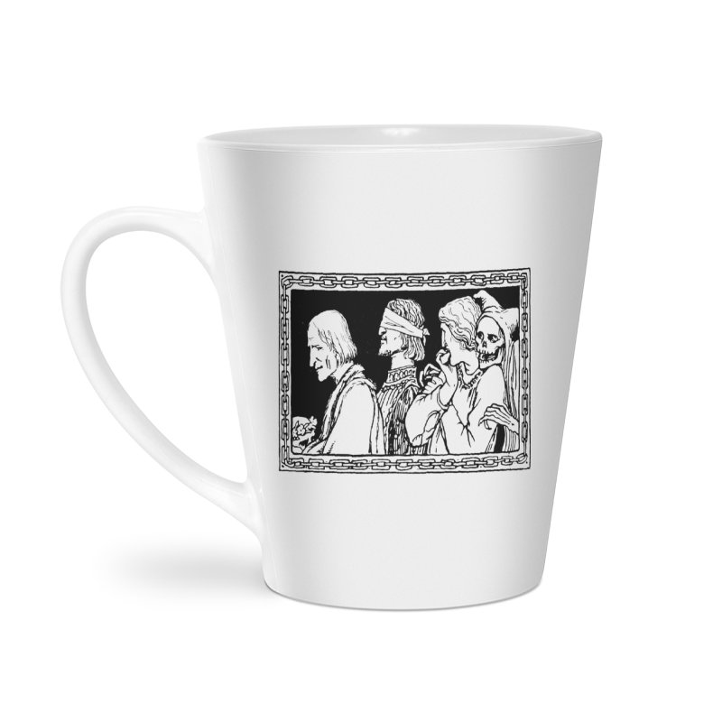 A Masque of Dead Florentine Accessories Latte Mug by Green Grackle Studio