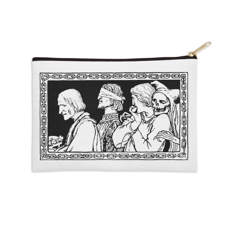 A Masque of Dead Florentine Accessories Zip Pouch by Green Grackle Studio