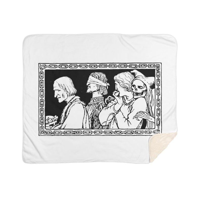 A Masque of Dead Florentine Home Sherpa Blanket Blanket by Green Grackle Studio