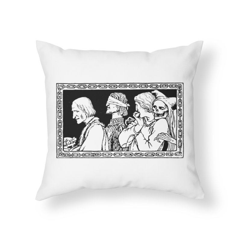 A Masque of Dead Florentine Home Throw Pillow by Green Grackle Studio