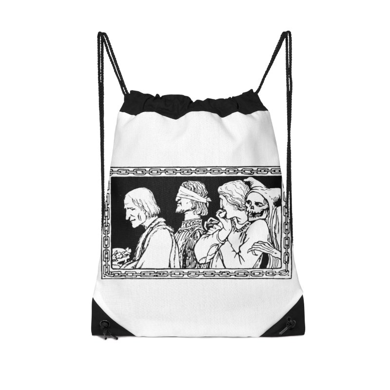 A Masque of Dead Florentine Accessories Drawstring Bag Bag by Green Grackle Studio