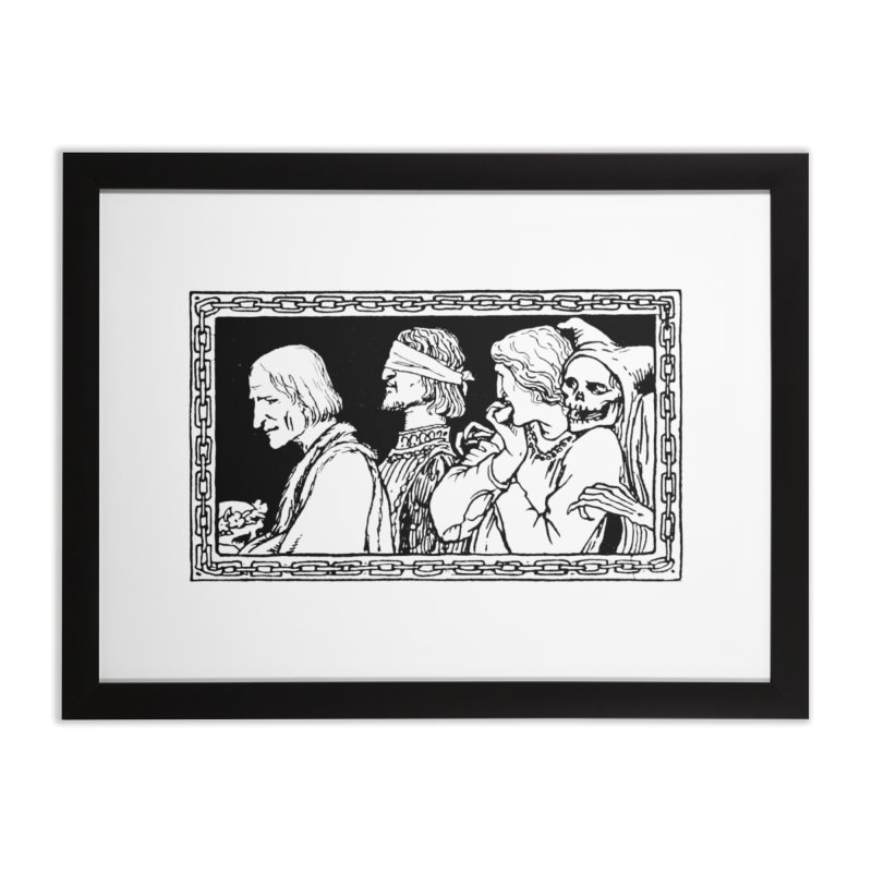A Masque of Dead Florentine Home Framed Fine Art Print by Green Grackle Studio