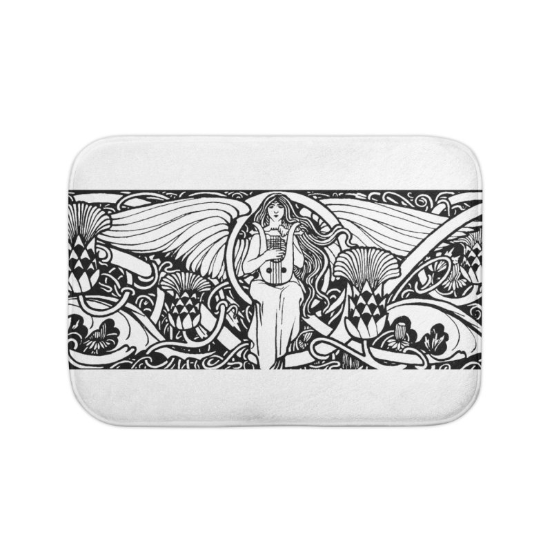 Angel Home Bath Mat by Green Grackle Studio