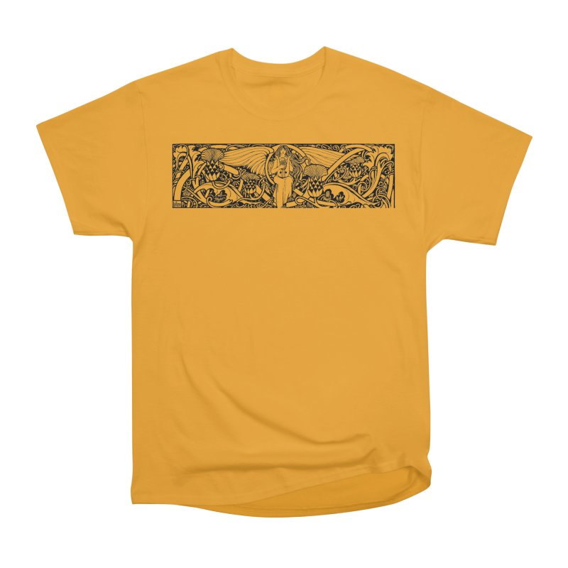 Angel Men's Heavyweight T-Shirt by Green Grackle Studio